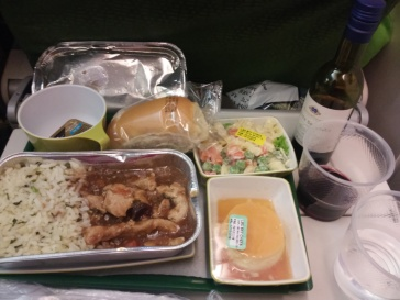Refeição no voo da Ethiopian