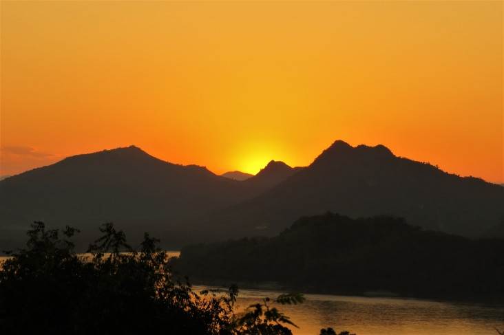 Pôr do sol em Luang Prabang - Laos