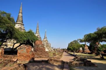 Três estupas do Wat Phra Si Sanphet