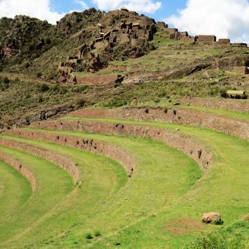 Terraços agrícolas em Pisaq