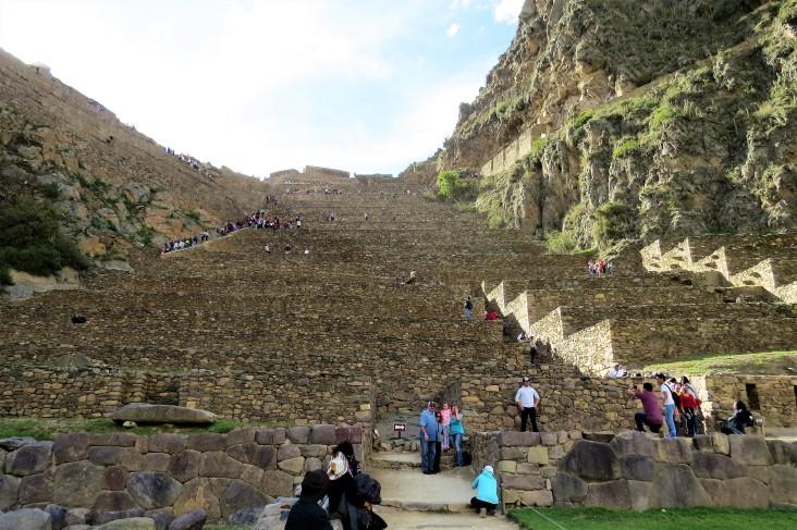 Escadaria em Ollantaytambo
