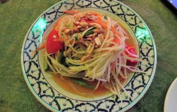 Salada de papaia verde do Green House