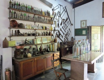 exposição de objetos antigos