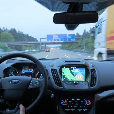 A caminho de Wurzburg com nosso Ford Kuga