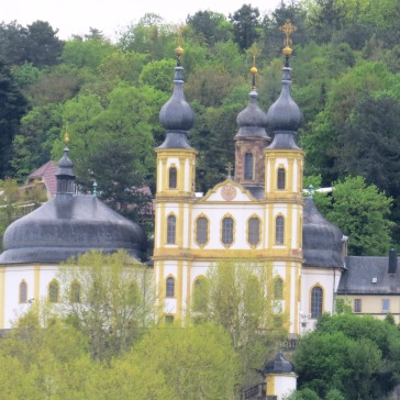 Würzburg Käppele vista da ponte Alte Mainbrücke