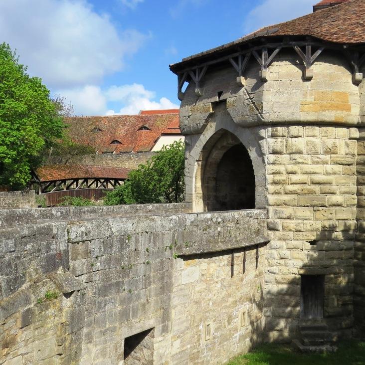 Spitaltor - uma das entradas da cidade murada de Rothenburg