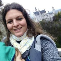 Selfie com a mamãe no castelo Neuschwanstein.