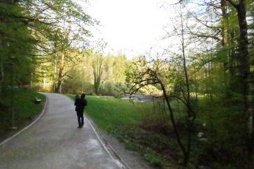 Caminho até o Palácio de Linderhof