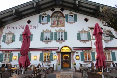Alte Post, nosso hotel em Obserammergau