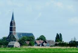 Igreja na Holanda - olha o avião!