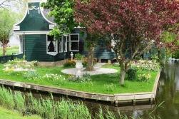 Casas tradicionais habitadas em Zaanse Schans.