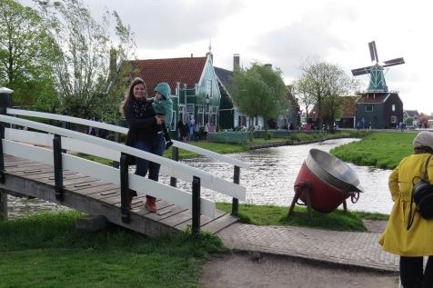 Canais e moinhos em Zaanse Schans.