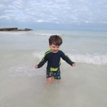 Alegria: vibrou em sua primeira vez no mar