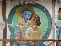 Arte de rua em Holbox