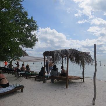 Cadeiras de praia em Punta Cocos
